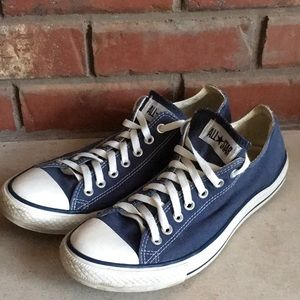 Converse Navy All Star Sneakers mens 11 ladies 13